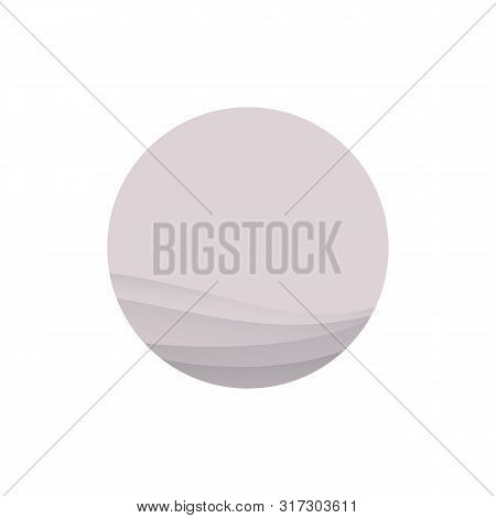 Powdery Pink Moon Icon Isolated On White