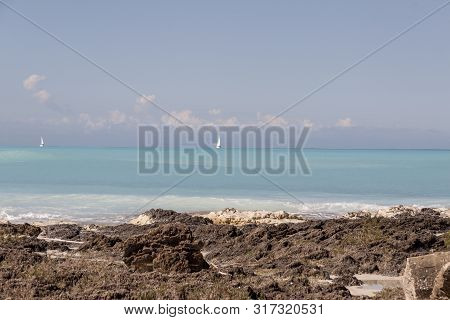 Rosignano (near Vada), White Beach In Italy, Toscany.