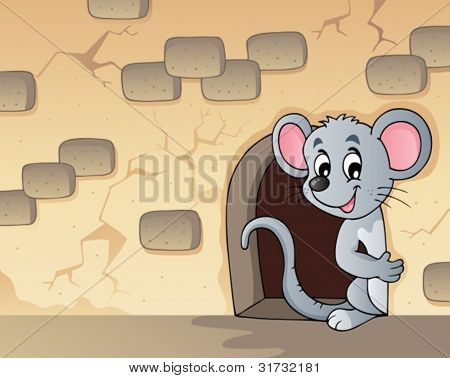 Mouse theme image 3 - vector illustration.