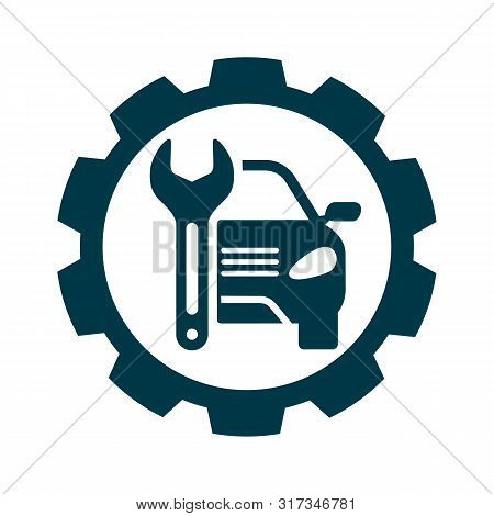Auto Service Sign. Car Repair Logo. Eps