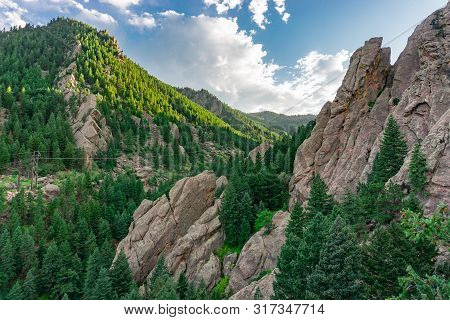 Dreamy View Of The Mountains In The Flatirons Boulder Colorado