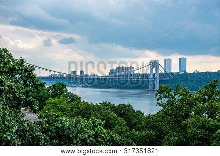 Washington Bridge Seen From Fort Tryon Park