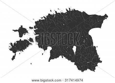 Baltic States - Map Vector & Photo (Free Trial) | Bigstock