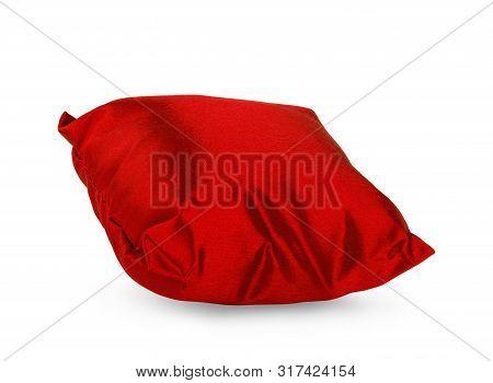 Bright Pillow Isolated On White Blau, Kissen, Coussin