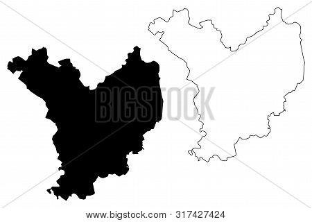Jasz-nagykun-szolnok County (hungary, Hungarian Counties) Map Vector Illustration, Scribble Sketch J