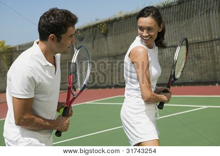 Tennis Player Getting Instruction