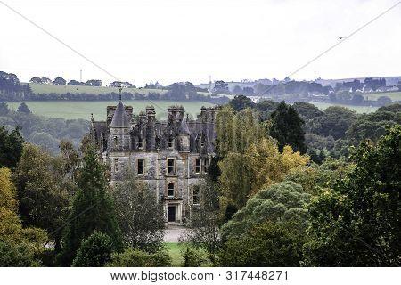 Ireland, Cork, Blarney - 2016 October 09: Blarney House Reformed In 1874 In Scotish Style, Colthurst