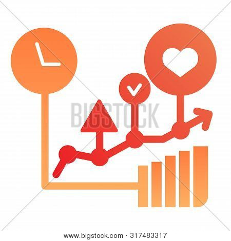 Commodity Turnover Flat Icon. Business Graph Color Icons In Trendy Flat Style. Trade Schedule Gradie