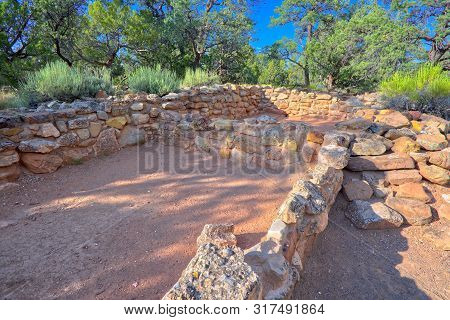 The Tusayan Ruins At The Grand Canyon National Park. The Ruins Are From The Pueblo Indians And Is Ar