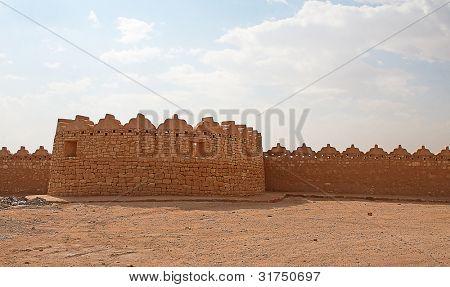Ruins of Diriyah, old city near Riyadh, Saudi Arabia poster
