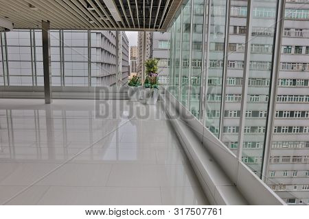 11 Aug 2019 A Glass Hall Way. In Day Time Hong Kong