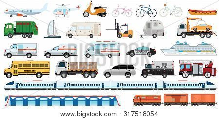 Transportable Vehicle Set Of Airplane, Subway Train, Car , Bicycle And Truck For Transportation In C