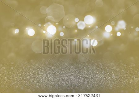 Orange Fantastic Glossy Abstract Background Glitter Lights Defocused Bokeh - Festal Mockup Texture W