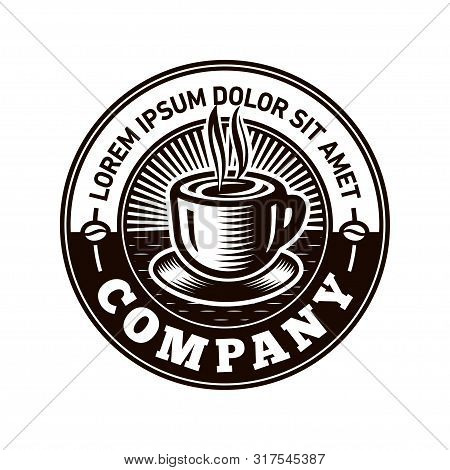 Coffee Logo. Vintage Cafe Logo Design. Vector And Illustrations.