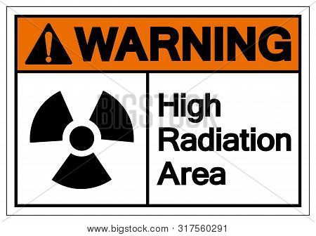 Warning High Radiation Area Symbol Sign, Vector Illustration, Isolate On White Background Label. Eps