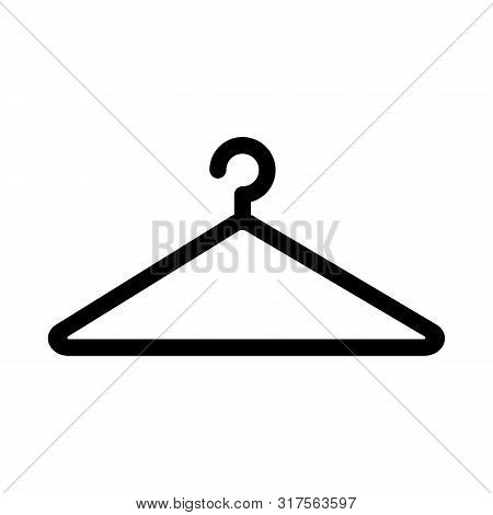 Black Coat Hanger Vector Illustration Store Clothing Hook