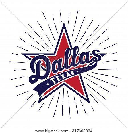 Dallas Texas Logo Design Template. Vector And Illustration.