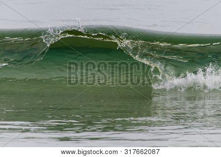 Detail Of Green Breaking Wave, Newfoundland Coastline