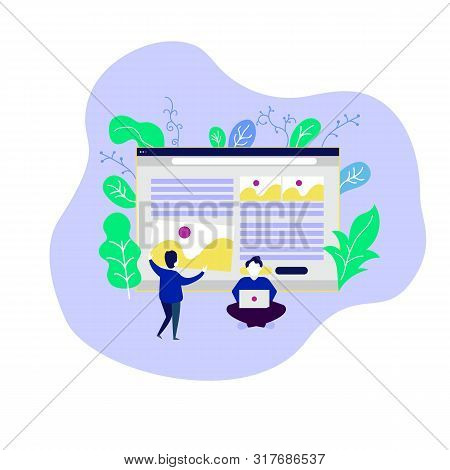 Web Page Design Template. Modern Vector Illustration Concepts For Website Seo, Business Solutions, W