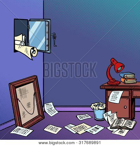 Hacking Home Safe Securities, Robbery. Comic Cartoon Pop Art Retro Vector Illustration Drawing