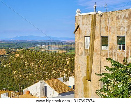 A View Of The Region Of La Janda With The Marshes Of Barbate River. View From La Corredera Walkway V