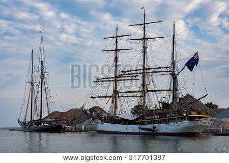 17 Aug 2019 Kingsville Ontario Vessels Participate In Vintage Tall Ships Festival In Kingsville, Ont