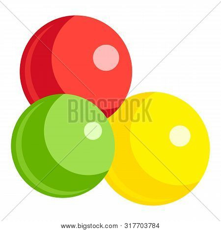 Fruits Gumball Icon. Cartoon Of Fruits Gumball Vector Icon For Web Design Isolated On White Backgrou