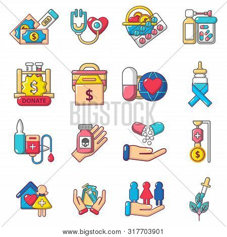 Therapeutic Icons Set. Cartoon Set Of 16 Therapeutic Vector Icons For Web Isolated On White Backgrou
