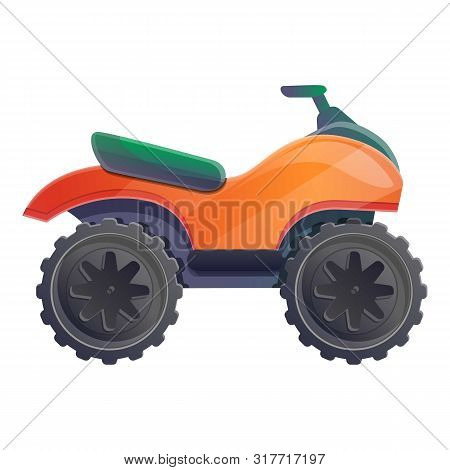 Offroad Quad Bike Icon. Cartoon Of Offroad Quad Bike Vector Icon For Web Design Isolated On White Ba