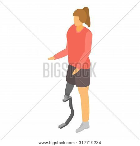 Artificial Leg Limbs Icon. Isometric Of Artificial Leg Limbs Vector Icon For Web Design Isolated On
