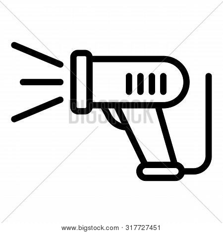 Barcode Scanner Device Icon. Outline Barcode Scanner Device Vector Icon For Web Design Isolated On W