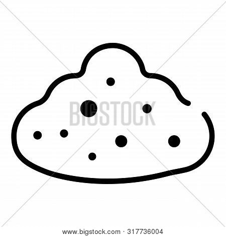 Humus Icon. Outline Humus Vector Icon For Web Design Isolated On White Background