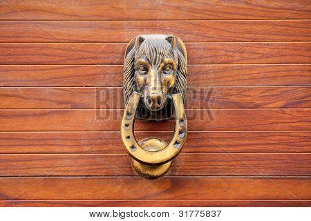 Old brazen door knocker