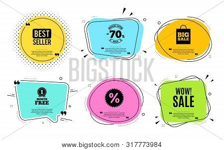 Wow Sale. Best Seller, Quote Text. Special Offer Price Sign. Advertising Discounts Symbol. Quotation