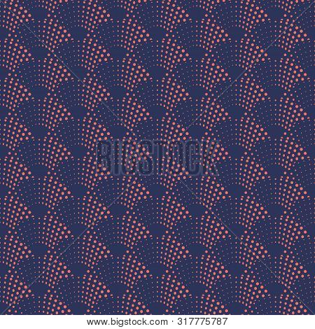 Abstract Wave In Vector Seamless Pattern. Seigaiha Japanese Style Sea, Ocean Wave Traditional Patter