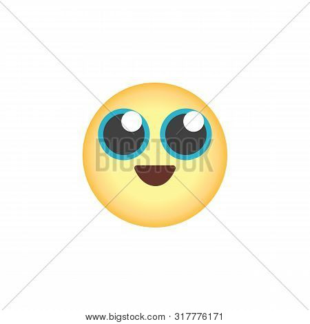 Grinning Face Emoticon Flat Icon, Vector Sign, Happy Face Emoji Colorful Pictogram Isolated On White