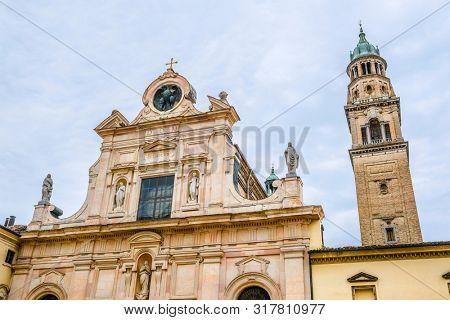 Parma, Italy - July, 14, 2019: Catholic Parma, Italy