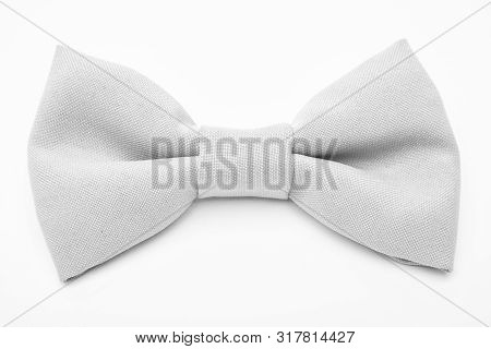 poster of Wedding accessories. Fashion accessory. Esthete detail. Fix bow tie. Groom wedding. Tying bow tie. Textile fabric bow close up. Modern formal style. Menswear clothes. Perfect outfit
