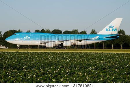 Amsterdam / Netherlands - July 3, 2017: Klm Royal Dutch Airlines Boeing 747-400 Ph-bfu Passenger Pla