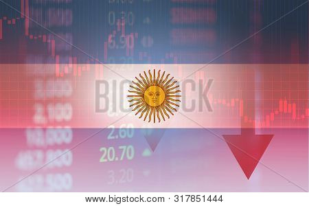 Argentina Crisis Economy Stock Exchange Market Down Chart Fall Trading Graph Finance Fiscal Deficit