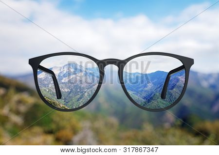 Abstract Landscape Though Eyeglasses