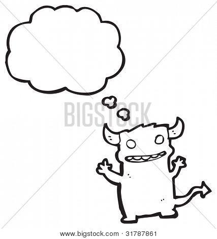 cartoon mischievous little devil poster