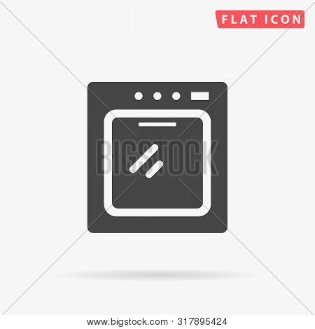 Cooker. Oven. Stove. Flat Design Style Minimal Vector Illustration Icon For Web Design