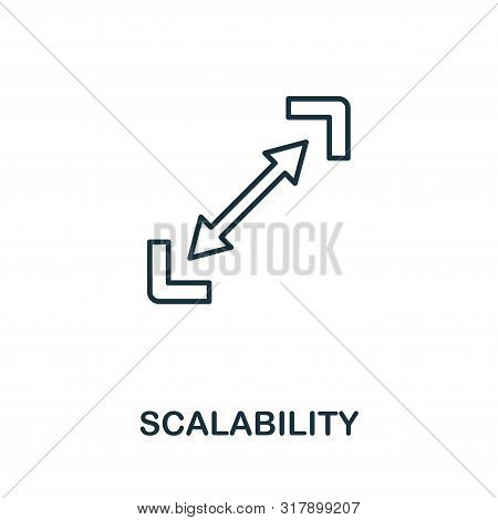 Scalability Outline Icon. Thin Style Design From Startup Icons Collection. Creativescalability Icon