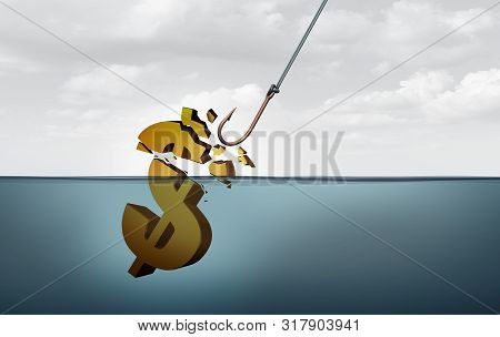 poster of Missed business opportunity and earnings miss concept and financial idea and business failure metaphor as a 3D illustration.
