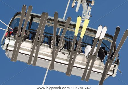 Ski Lift From Below
