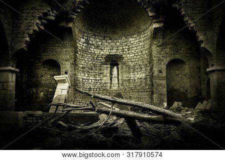 Abandoned Church In Ruins