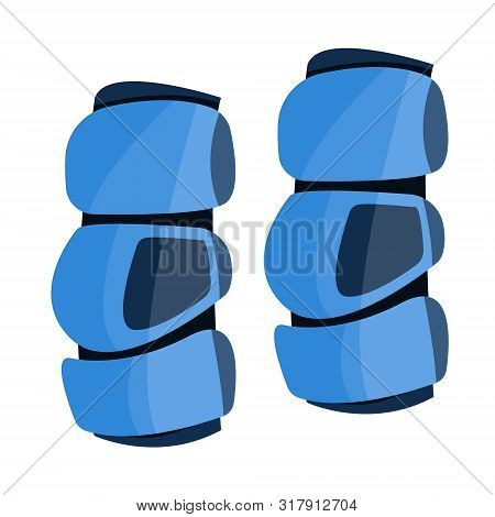 Lacrosse Arm Pads To Protection. Sport Knee Pad. Flat Cartoon Style Vector Illustration Icons. Isola