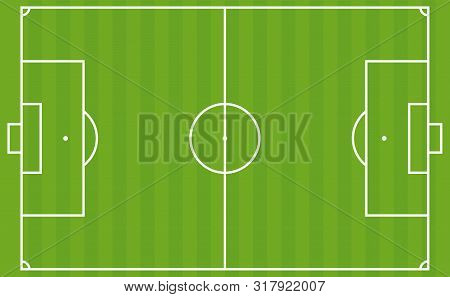 Football Pitch. The European Soccer Field Layout. Vector Illustration