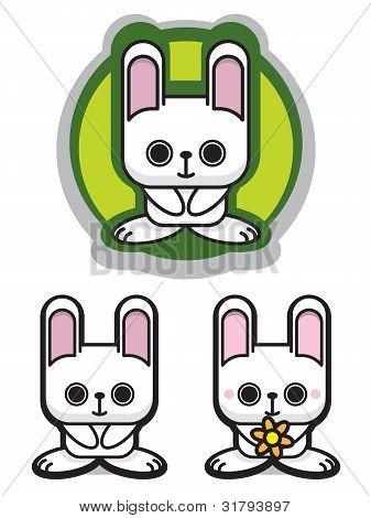 Cute Romantic Rabbit